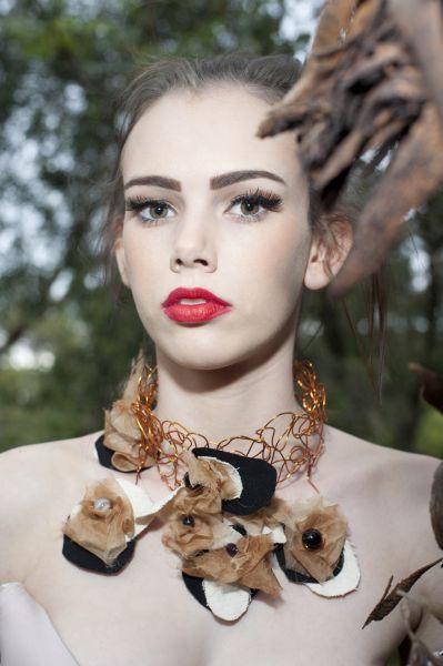 20cfe6b68b5548 Green Embassy jewellery Knitted copper wire, GOTS Certified Organic Cotton  fabric, Natural Silk Organza